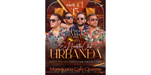 PURA VIDA BRUNCH PARTY- URBANDA- OCT 13- MAMAJUANA CAFE QUEENS , New York, New York