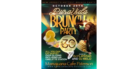 PURA VIDA BRUNCH PARTY - OCT 20- MAMAJUANA CAFE PATERSON , Paterson, New Jersey