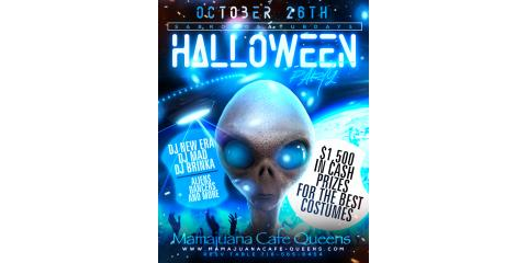PARTY OUT OF THIS WORLD- MAMAJUANA CAFE QUEENS HALLOWEEN PARTY- OCT 26, New York, New York