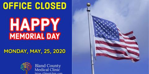 Office Closed - Memorial Day 2020, 1, Virginia
