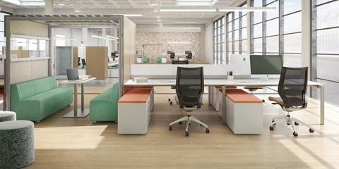 Office furniture tip use furniture to define your work for Office design for millennials