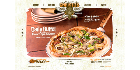 Original Christo's on S.Main str. NEW delivery hours, Lexington, North Carolina