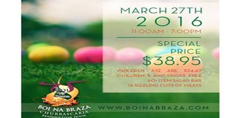 Enjoy Easter Sunday at Cincinnati's Brazilian Steak House, Cincinnati, Ohio