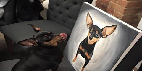 Sign Up by March 26th for the Project Pet Class on April 9th at Ohio's Paint and Sip Studio, Pinot's Palette, Middletown, Ohio