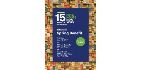 Open House New York 15th Anniversary Spring Benefit, New York, New York