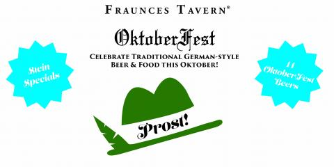 The Porterhouse at Fraunces Tavern Brings Oktoberfest to NY's Most Authentic Irish Pub & Restaurant, Manhattan, New York