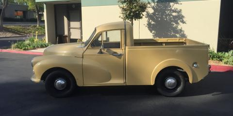 "Meet ""Rip Van Winkle"": The Morris Minor Pickup Now Being Restored at the Premier Classic Car Parts Emporium, South Coast, California"