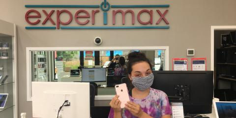 Olga broke her iPhone 7+  and we repaired it like new! Come repair your device today! Call us at 781-328-0033!, Burlington, Massachusetts