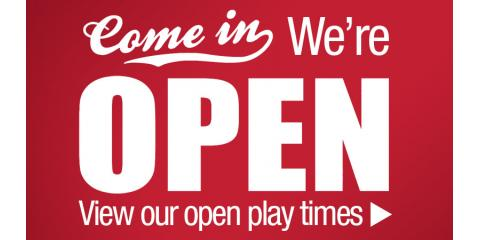 **OPEN PLAY Times & Specials for the week of 2/19**, North Hempstead, New York