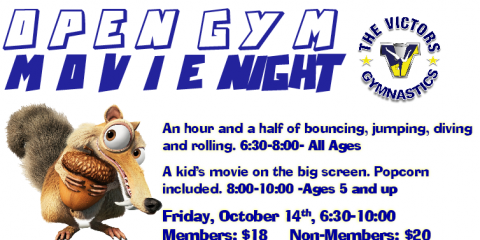 Open Gym and Movie, October 14th 6:30, ,