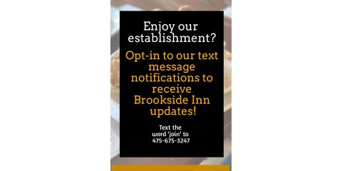 """OPT """"IN"""" To Brookside Inn , Oxford, Connecticut"""