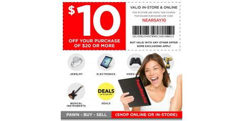 Save at Pawn America! Get $10 Off $20 or More, Burnsville, Minnesota