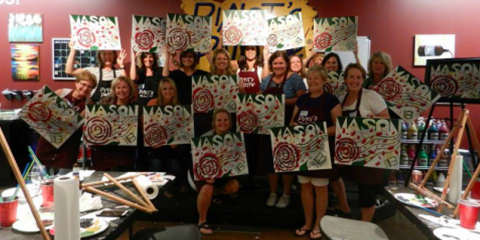 """Come Celebrate the One Year Anniversary of """"Paint & Sip"""" at Pinot's Palette, Middletown, Ohio"""