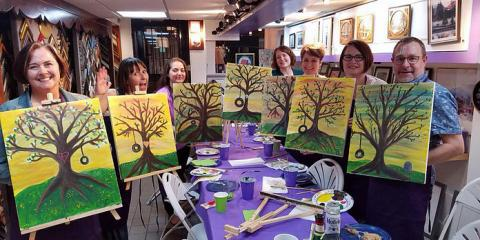 Try a Painting Class for a Different Kind of Night Out in NYC, Manhattan, New York
