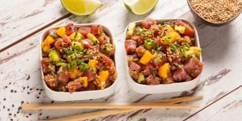 4 Kinds of Authentic Poke, Honolulu, Hawaii