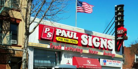 Make Your Business Stand Out With Custom Signs From Paul Signs Inc., Brooklyn, New York