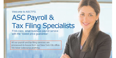 Avoid Payroll Mistakes in Your Business: Outsource Your Payroll Services to ASC Payroll & Tax Filing Specialists, Manhattan, New York