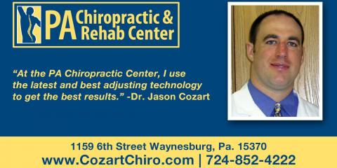 Dr. Jason Cozart: Pennsylvania Chiropractic & Rehab Center, Chiropractor, Health and Beauty, Waynesburg, Pennsylvania