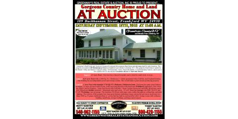 189 Buchannon Street in Frankford, WV FOR AUCTION TOMORROW AT 11 AM September 15th 2018 DONT MISS IT!, Covington, Virginia