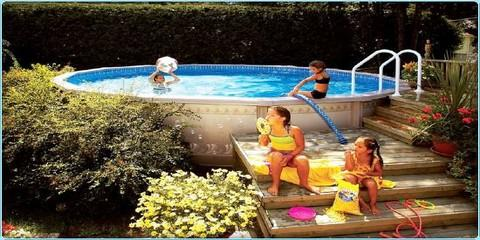 Clearance pricing on above-ground pools, Greece, New York