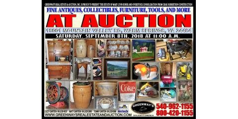 Estate of Mary Riner with Craig Roberston Construction Overstock Consolidation Tools Fine Antiques Furniture & More, Covington, Virginia