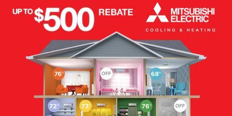 Save Up to $500 on Mitsubishi Electric Multi-Zone Heating, Philadelphia, Pennsylvania