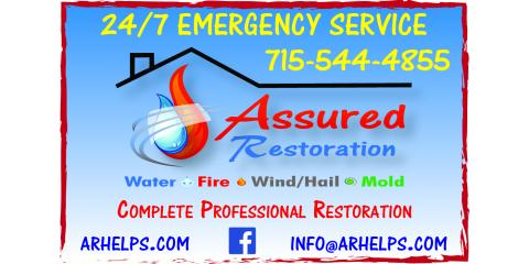 Assured Restoration, Fire Damage Restoration, Services, Plover, Wisconsin