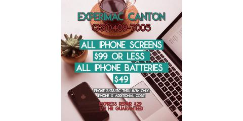 iPhone® Screen and Battery Replacement, Canton, Ohio