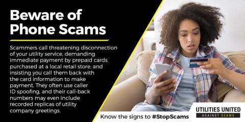 Don't fall victim to disconnect scams! , Hernandez, New Mexico