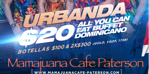 JUEVES SANTIAGUERO- URBANDA - MAMAJUANA CAFE PATERSON, Paterson, New Jersey