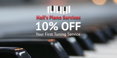 10% Off 1st Piano Tuning Service - Hall's Piano Services, Fayetteville, Georgia