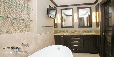Custom Design Bathroom Renovation in Atlanta through American Craftsman Renovations, Atlanta, Georgia