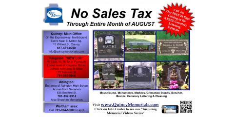No Sales Tax! (this month), Kingston, Massachusetts