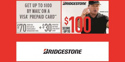 Bridgestone - Buy 4, Score $70, Kannapolis, North Carolina
