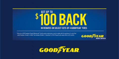 Goodyear - Get Up To $100 Back On Select Goodyear Tires, Kannapolis, North Carolina