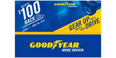 Goodyear - Get Up To $100 Back On Select Goodyear Tires, Kannapolis, North Carolina