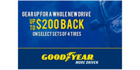 Goodyear - Get Up To $200 Back On Select Goodyear Tires, Kannapolis, North Carolina