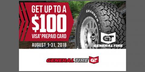 General Tire - Get up to a $100 Visa® Prepaid Card, Kannapolis, North Carolina