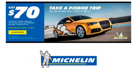 Michelin® - Get $70 via Mastercard® Reward Card, Kannapolis, North Carolina