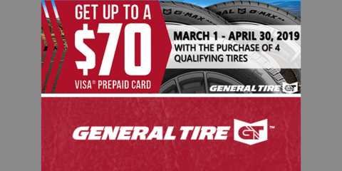 General Tire - Get Up To A $70 Visa® Prepaid Card, Kannapolis, North Carolina