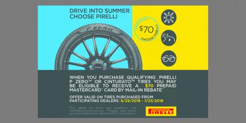 Pirelli - June-July 2018 Pirelli Consumer Promotion, Kannapolis, North Carolina