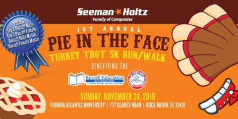 Join the Seeman Holtz Team for our 1st Annual 5k Turkey Trot , Boca Raton, Florida