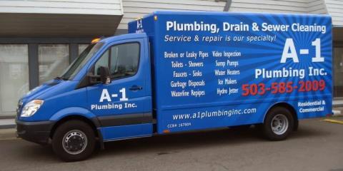 A-1 Plumbing, Inc., Plumbing, Services, Salem, Oregon