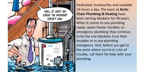 For Plumbing Installation in Alaska Call The Plumbing Contractors at Arctic Chain Plumbing & Heating, Anchorage, Alaska
