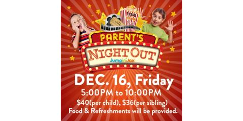 Parent's Night Out @ JumpinJax, Paramus, New Jersey