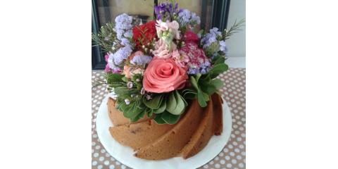 The Perfect Floral Bouquet-Topped Pound Cakes: Edible Wedding Centerpieces, Xenia, Ohio