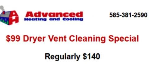 Get Your Dryer Vents Cleaned Now and Save $$$, Penfield, New York