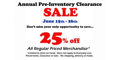 Pre-Inventory SALE 6/15-6/26!, ,