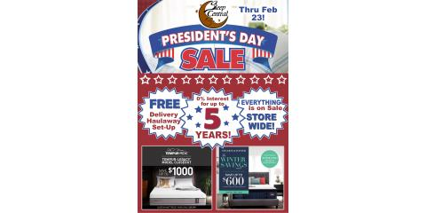 President's Week Mattress Sale Ends Soon at Sleep Central in Minocqua!  Your Bedding and Futon Headquarters!, Minocqua, Wisconsin
