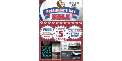 Sleep Central President's Day Mattress Sale Thru February 24!, Minocqua, Wisconsin